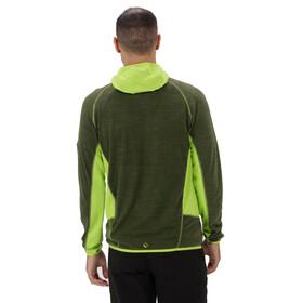 Regatta Cartersville IV Fleece Jacket Herren racing green/lime green